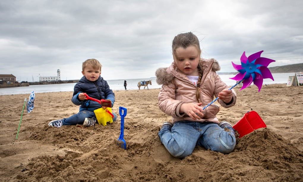 It's cold and wet, but Scarborough is a beacon of normality for families
